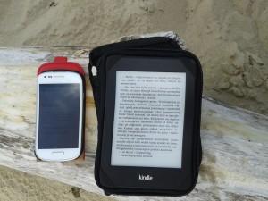 A tak wygląga czytanie na plaży...