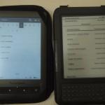 Oświetlenie ekranu e-ink poprawia kontrast przy świetle dziennym...