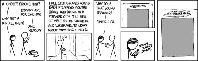 """Przewodnika """"Autostopem po Galaktyce"""" w języku polskim nie dostaniemy. Szkoda tylko, że darmowy internet już nie działa."""