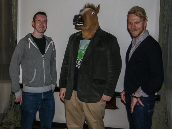 Od lewej: Eddie Symmons, Imperator, Michael Gapper